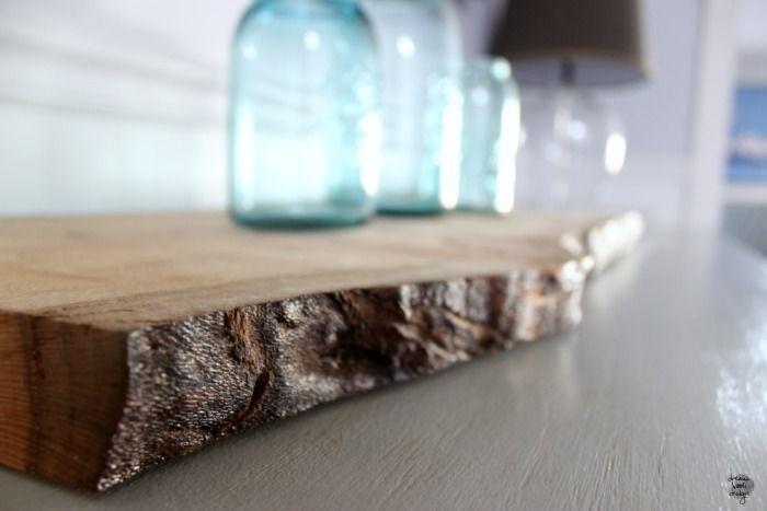 DIY wooden slice tray on dreambookdesign.com