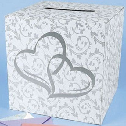 #Wedding Card Box - 2 Hearts Design