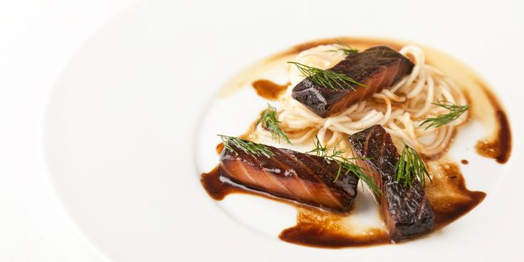A super-simple yet classy dish, this glazed salmon recipe by Pascal Aussignac makes a superb dinner