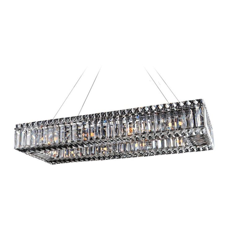 Allegri Lighting Baguette 30in x 12in Rectangular Pendant 11708-010-FR001