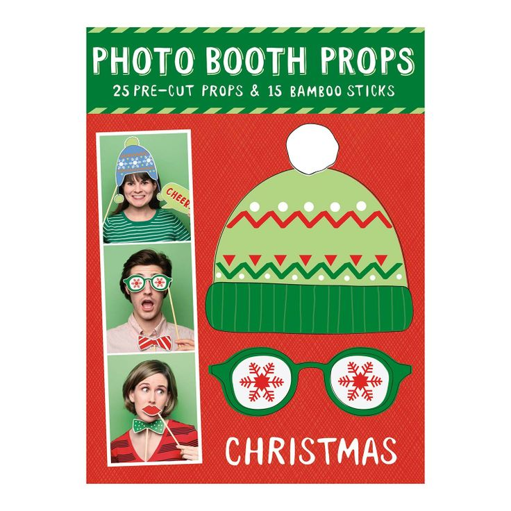 A must for your holiday party: photo booth props!