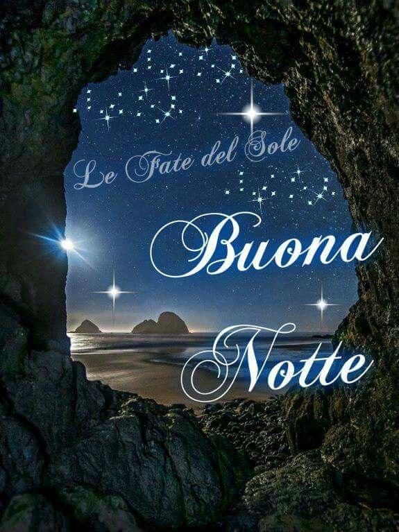 Картинка доброй ночи мужчине на итальянском