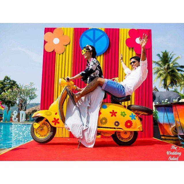 Superfun photobooth at a Goa wedding. Location: @resortrio, Goa Wedding designed…