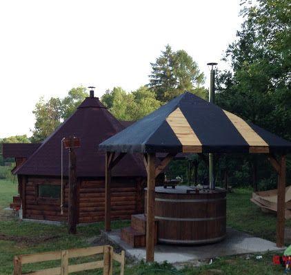 Sauna / Ruska Bania z sauną IR plus zimna i gorąca beczka.