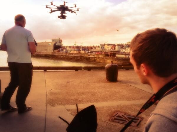 Filming at sunset #aerialcamera #aerialfilming #Bridlington  #yorkshire
