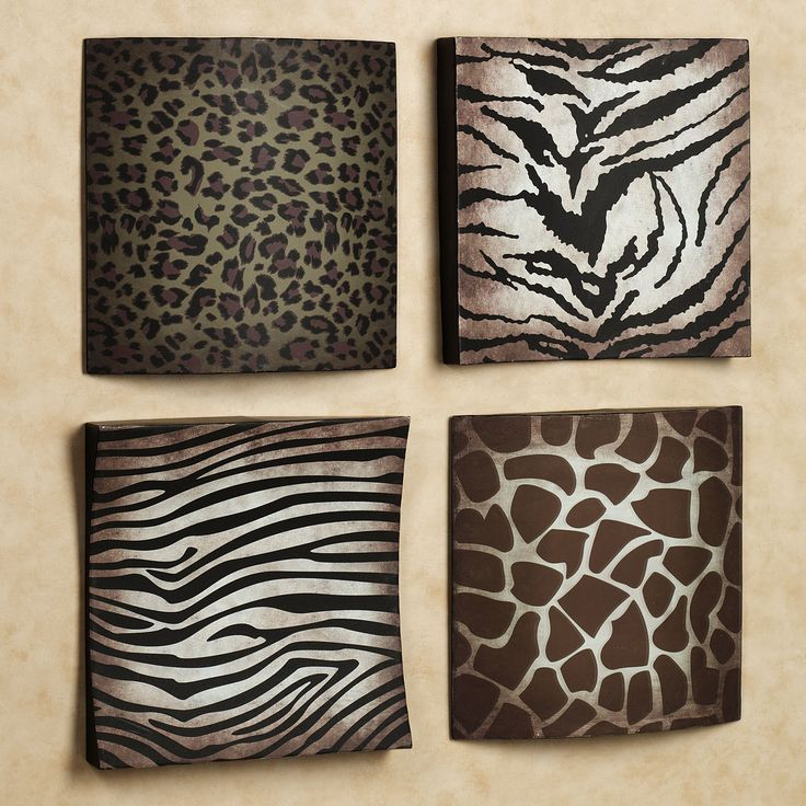 Safari Animal Prints Metal Wall Plaque   Love These Frames Part 93