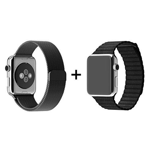 Arktis Apple Watch 42 mm Armband Set I - Schwarz - http://on-line-kaufen.de/arktis-4/arktis-apple-watch-42-mm-armband-set-i-schwarz
