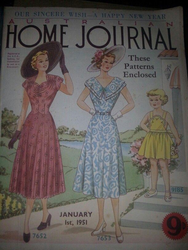Australian home journal January 1951 cover