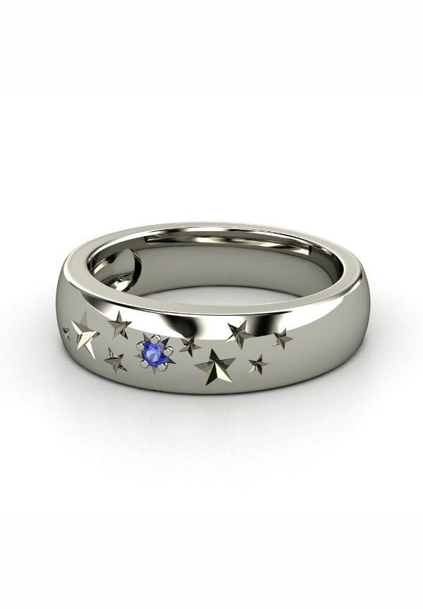 I want this Ring for Christmas but with Purple in it!!!!!! Sterling Silver Ring with Sapphire | Supernova Band | Gemvara