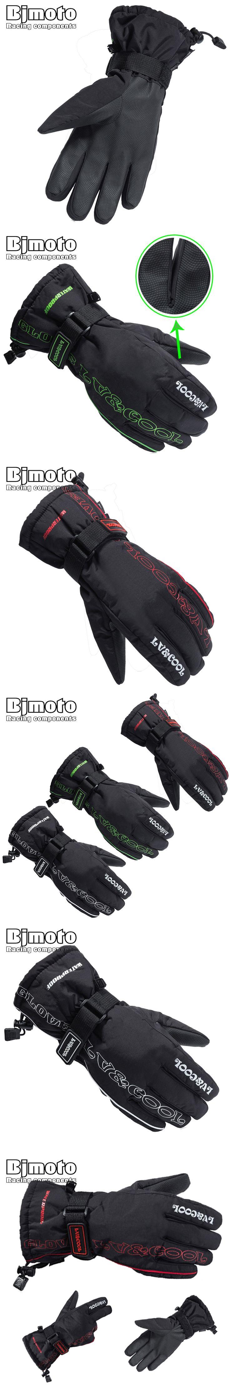 GLO-001 Motorcycle Gloves Winter Warm Waterproof Windproof Protective Gloves 100% Waterproof  Moto Luvas Alpine Motocross Stars