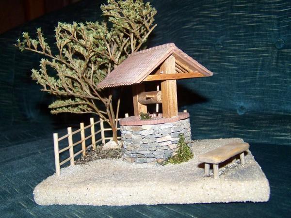 Comment faire un puits en pierre.... diorama , tutoriel...
