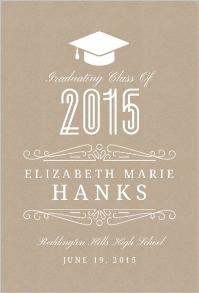Classy Kraft Graduation Announcement by InviteShop.com. #graduationpartyinvitations #graduation #announcements