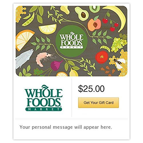 Whole Foods Market Gift Cards  E-mail Delivery Reviews
