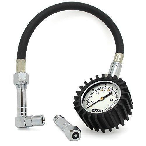 Oferta: 17.75€ Dto: -46%. Comprar Ofertas de TireTek Flexi-Pro Medidor de presión de neumáticos, coche y moto con mandriles en ángulo recto y llano–60PSI barato. ¡Mira las ofertas!