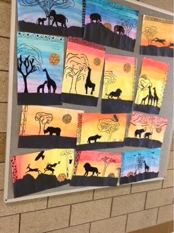 Art at Becker Middle School: Silhouettes of the Serengetti