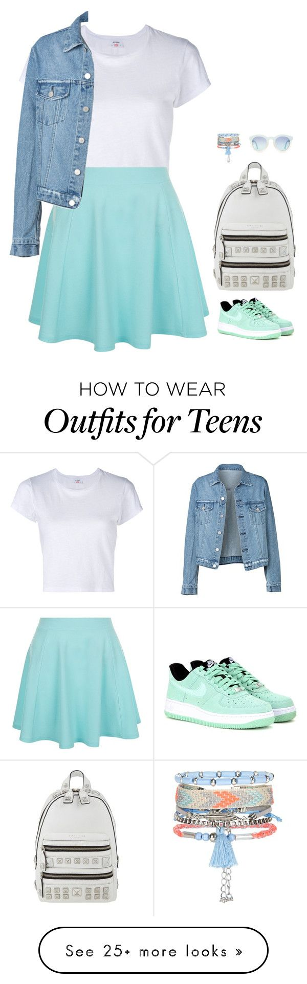 """#2893"" by azaliyan on Polyvore featuring RE/DONE, New Look, NIKE and Marc Jacobs"