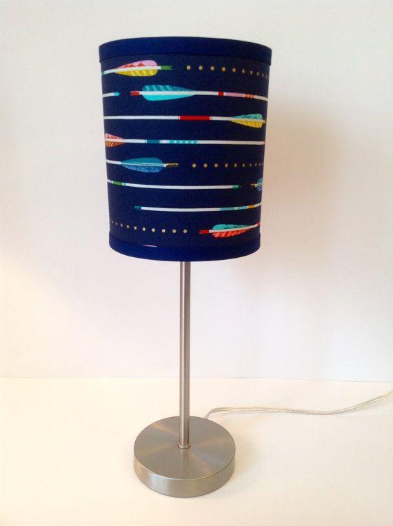 Tribal Arrow Navy Lamp Shade by LightningBugs on Etsy