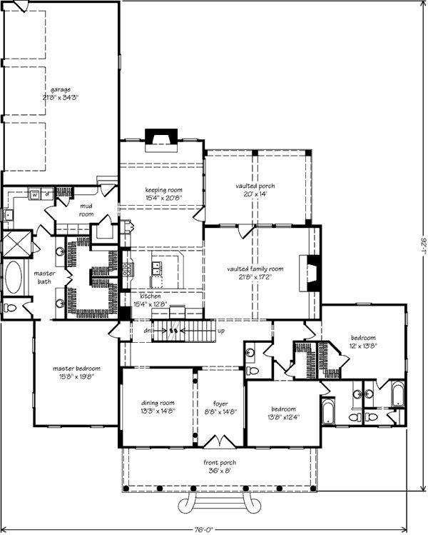 Tallaway floor plan love the porch mudroom laundry off for House plans with keeping rooms