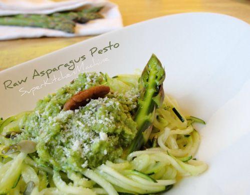 asparagus pesto raw food thermomix recipe