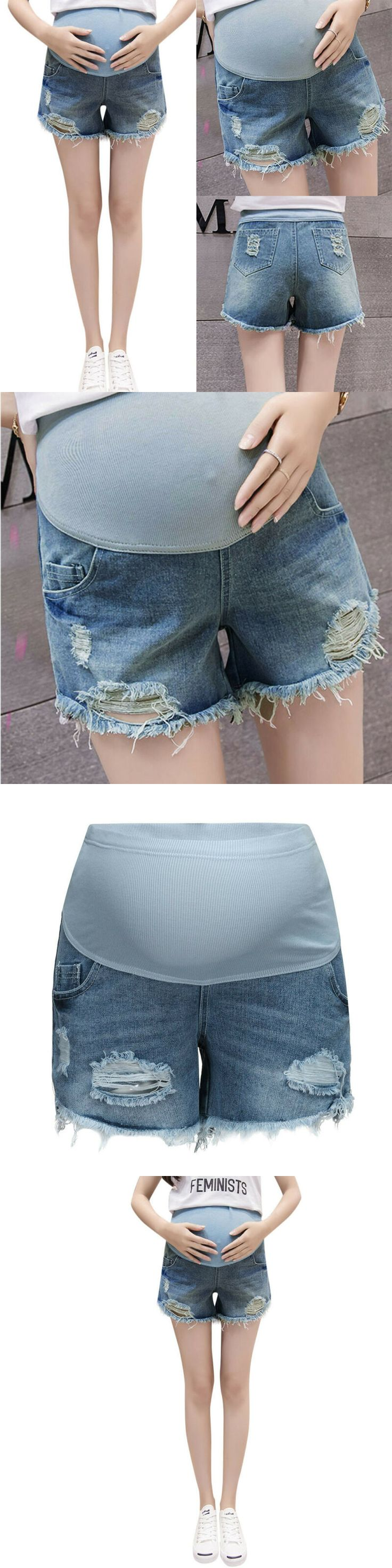 Shorts 15747: Summer Pregnant Woman Ripped Jeans Maternity Solid Shorts Nursing … – Shorts 15747