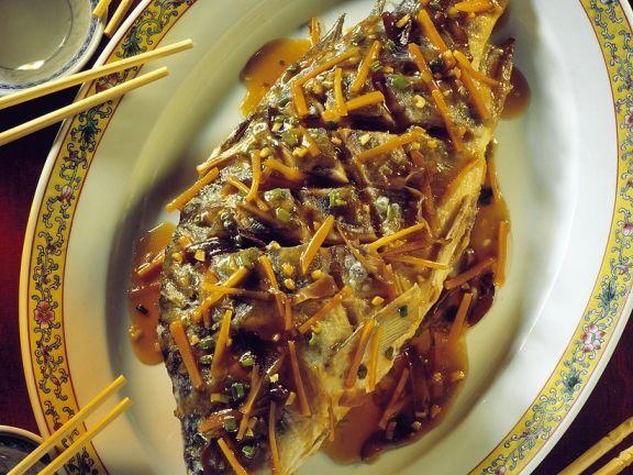 Frittierter Karpfen mit Möhren ist ein Rezept mit frischen Zutaten aus der Kategorie Fisch. Probieren Sie dieses und weitere Rezepte von EAT SMARTER!