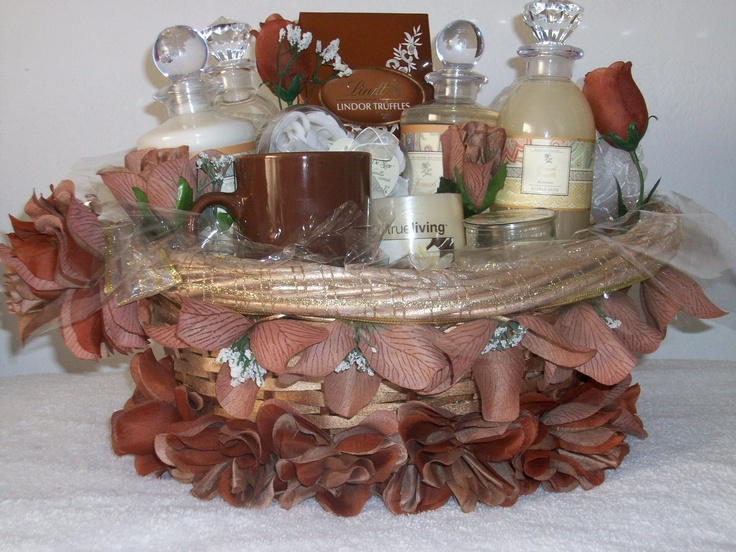 """One of a kind handcrafted Spa Gift Basket Vanilla All Day  """"Item Sold"""" http://www.bonanza.com/booths/pat21"""