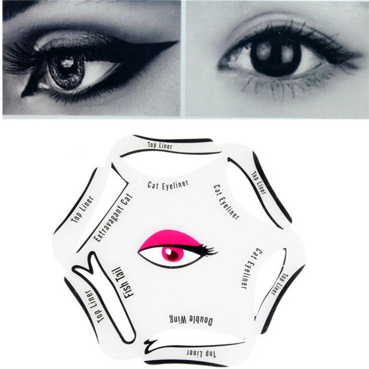 1 Pc 6 w 1 Wzornik Makijaż Przewodnik Szybkie Eyeliner Eyeliner Narzędzia Urody