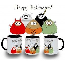 Taza POU Halloween varios colores
