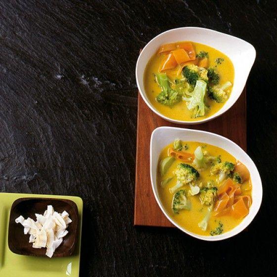 vegane Curry Brokkoli Suppe