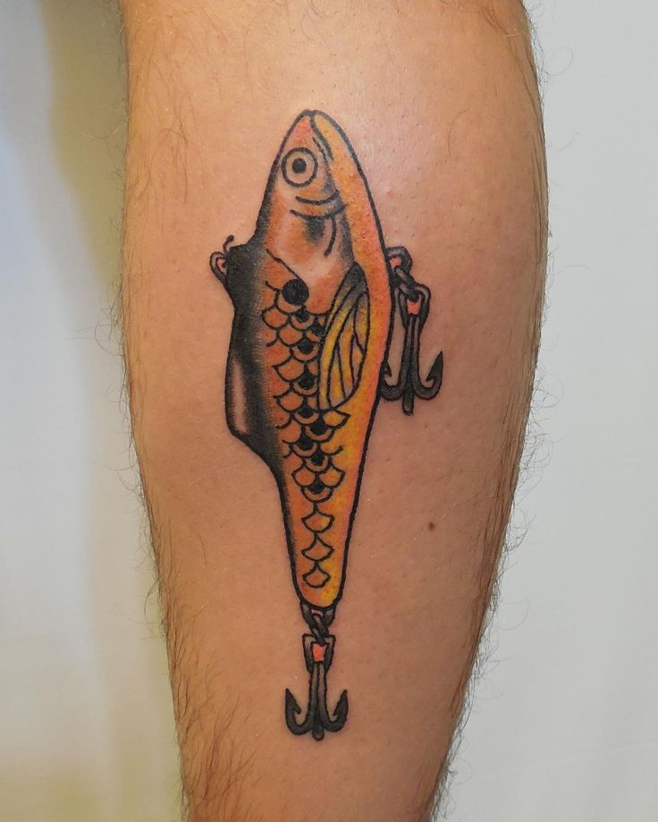 25 Marvelous Fish Hook Tattoo Ideas - Hooking Yourself with Ink Worth Designs Check more at http://tattoo-journal.com/best-fish-hook-tattoos/