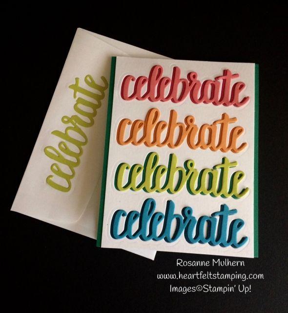 Stampin Up Celebrate You Birthday Card Ideas - Rosanne Mulhern (SAB 2018) celebrate you thinlits