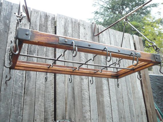 Kitchen Hanger Pot Rack Rustic Style And By Industriana