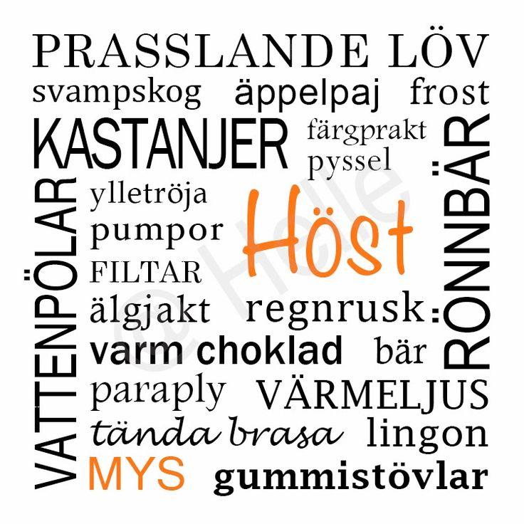 Hösttavla / Tavla höst - made by Helle