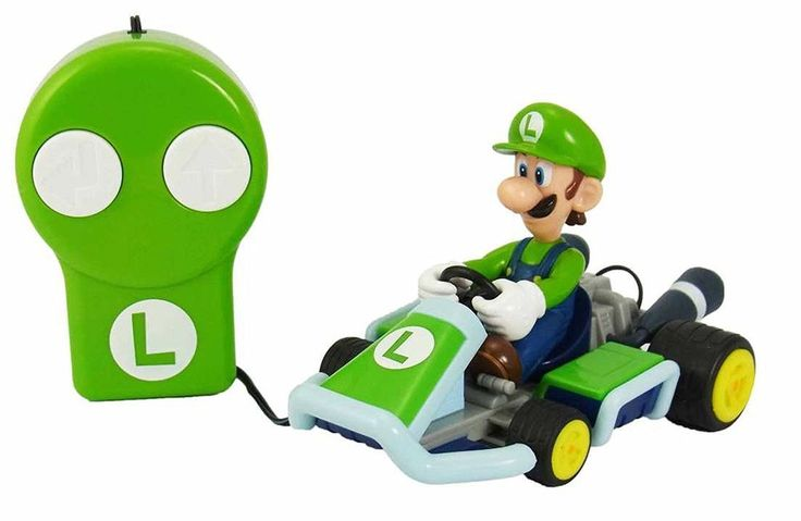 Remote Control Car Mario Kart 7 Luigi Toy Radio Control from Japan F/S #MURAOKA