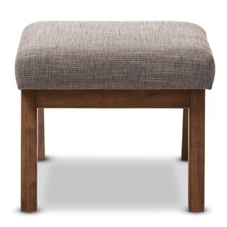 Baxton Studio Methodios Mid-Century Modern Upholstered Ottoman - Free Shipping Today - Overstock.com - 20163766 - Mobile