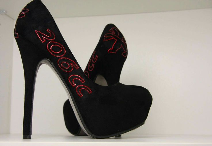 Peugeot Heels made by crystallized-finishings