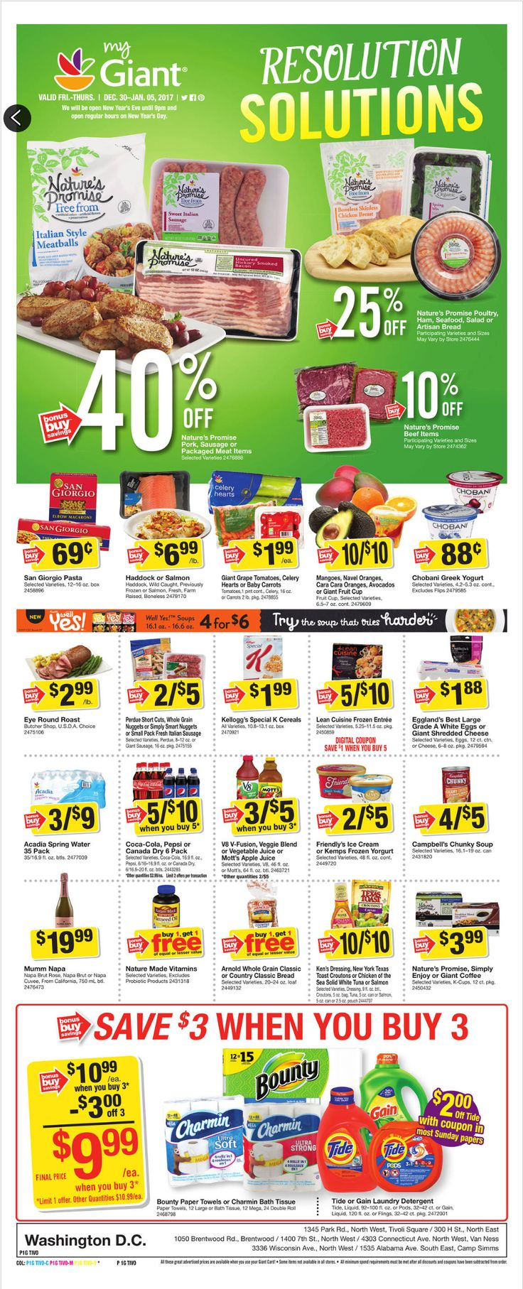 Giant Food Weekly Ad December 30 - January 5, 2017 - http://www.olcatalog.com/grocery/giant-food-weekly-ad.html
