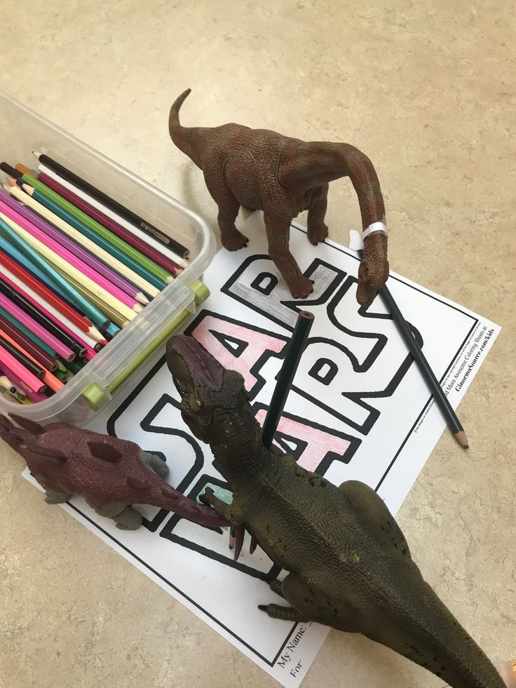 The dinosaurs used teamwork to help us get ready for #StarWars next month! See our online calendar for full details. #dinovember