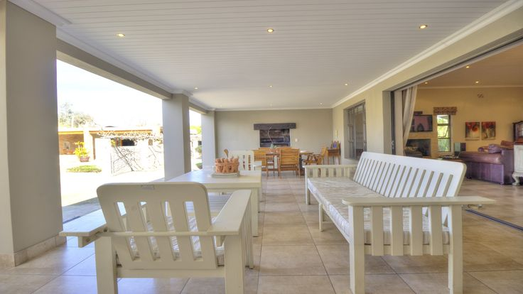 Undercover patio with built-in braai #outdoors #patio #braai #property #property24 #southafrica
