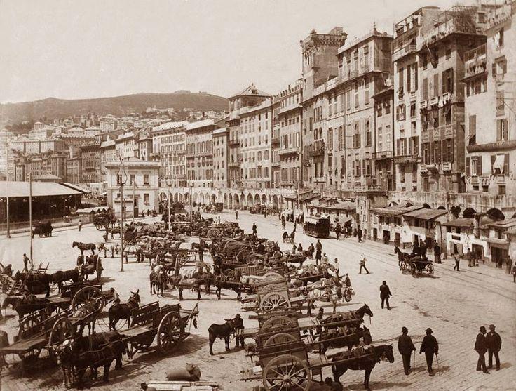 Street scene in Genoa, Italy, 1886