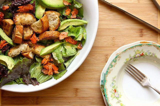 ... the Baker – Buttered Crouton Salad with avocado and smoked salmon