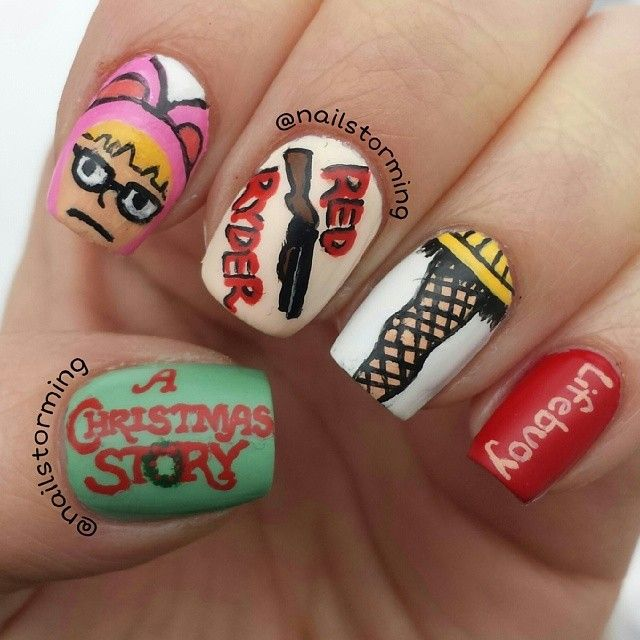 A Christmas Story By Nailstorming Nail Nails Nailart