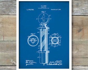Barber Pole Patent Print  Patent Art Print  Patent by VisualDesign