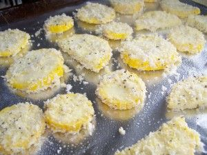 Oven baked squash.