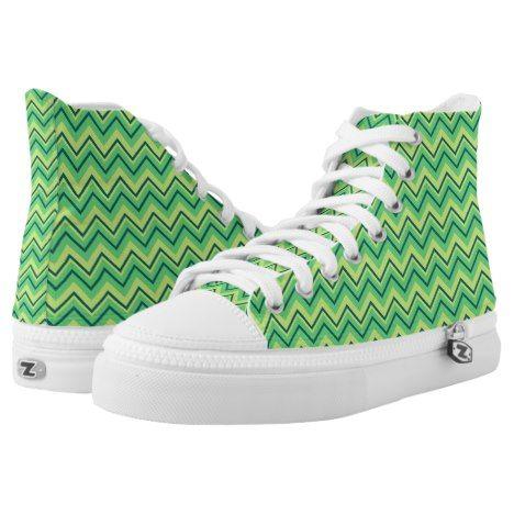 lime green zigzag chevron shoes #chevron #patterned #footwear #fashion