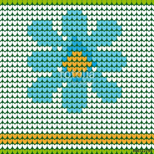 Вектор: бесшовный паттерн голубой цветок