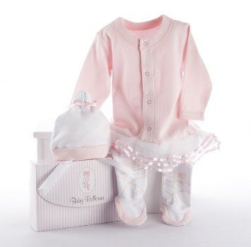 Amazon.com: Baby Aspen Big Dreamzzz Baby Ballerina Layette Set with Gift Box, Pink, 0-6 Months: Baby