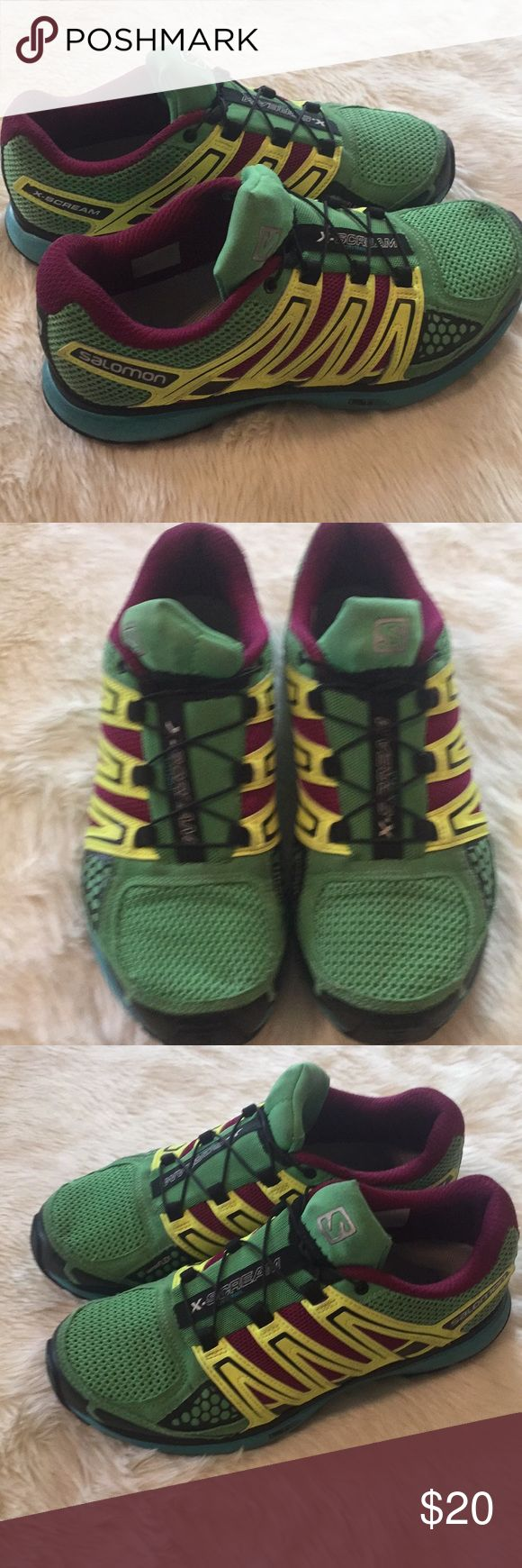 Women's Salomon X-Scream Trail Running Shoes Very used trail running shoes but still look great! Make me and offer! No rips or stains. Salomon Shoes Athletic Shoes