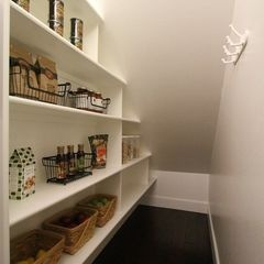 under staircase pantry walk-in closet