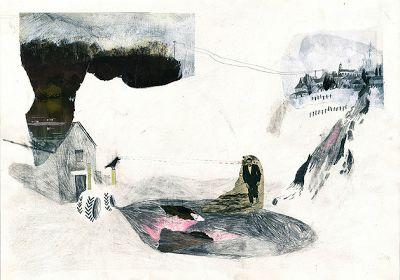drawdrawdraw: Helene Jeudy: collage drawings